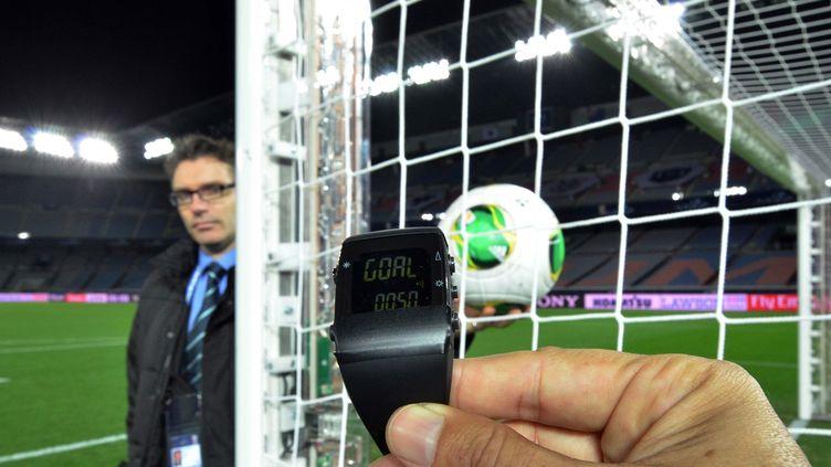 C'est un système de ce type qui équipera les cages du mondial de football 2014 au Brésil (YOSHIKAZU TSUNO / AFP)