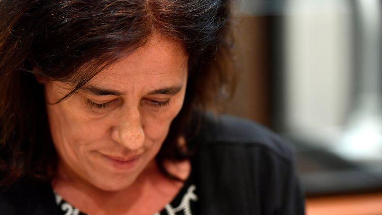 Rosa-Maria Da Cruz, la mère de Séréna, lors de son procès à Tulle (Corrèze), le 12 novembre 2018. (GEORGES GOBET / AFP)