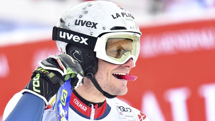 Julien Lizeroux a arrêté sa carrière après le slalom de Schladming, le 26 janvier 2021. (JOE KLAMAR / AFP)