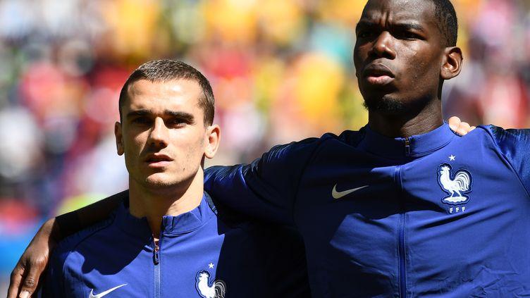 Antoine Griezmann et Paul Pogba (FRANCK FIFE / AFP)