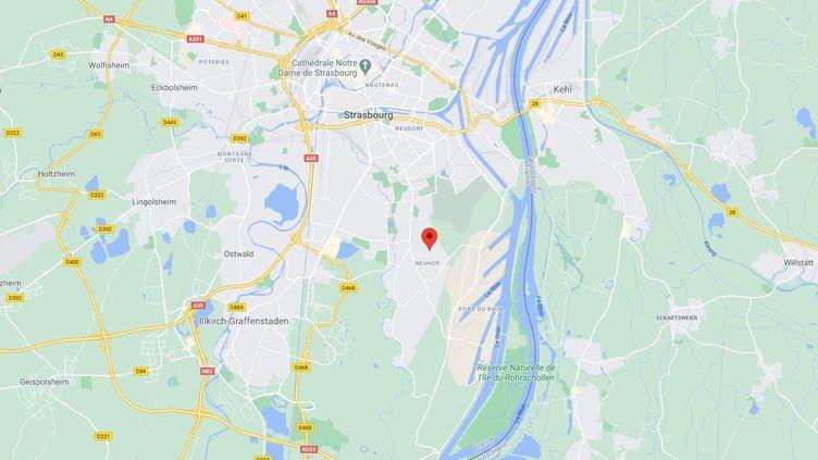 Un important incendie s'est déclaré dans un immeuble du Neuhof, à Strasbourg (Bas-Rhin), le 4 janvier 2021. (GOOGLE MAPS)