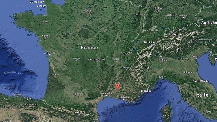 Capture d'écran d'une carte Google pointant la ville de Châteaurenard (Bouches-du-Rhône). (GOOGLE MAPS)