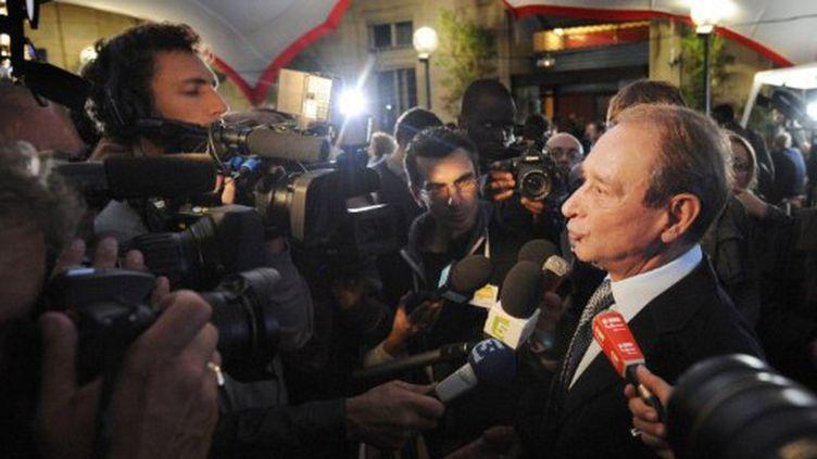 Le maire de Paris, Bertrand Delanoë, au siège du PS en octobre 2011 (JOHANNA LEGUERRE / AFP)