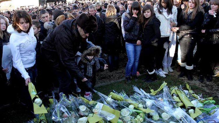 (Une forte émotion avait entouré les adieux à Maxime en janvier 2012 © Maxppp)