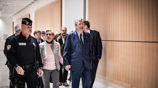 Patrick et Isabelle Balkany arrivent au palais de Justice de Paris, le 13 septembre 2019. (NICOLAS CLEUET / HANS LUCAS / AFP)