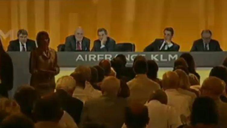 L'assemblée générale d'Air France-KLM, jeudi 31 mai 2012. ( FRANCE 2)