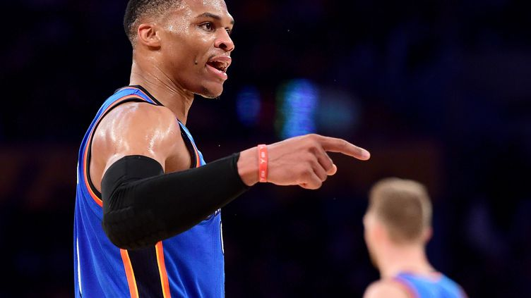 Prestation de patron pour Russell Westbrook. (HARRY HOW / GETTY IMAGES NORTH AMERICA)