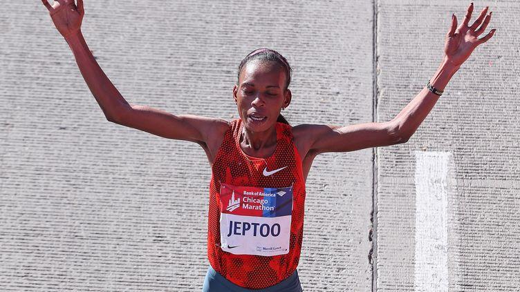 Rita Jeptoo avait été suspendue deux ans pour dopage. Sa suspension a été doublée. (JONATHAN DANIEL / GETTY IMAGES NORTH AMERICA)