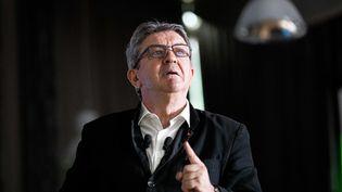 Jean-Luc Mélenchon, lors du discours de clôture de l'assemblée représentative de la France insoumise, le 23 juin 2019 à Paris. (CHRISTOPHE MORIN / MAXPPP)