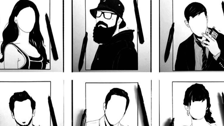 Des silhouettes sans visage...De quoi faire travailler l'imagination !  (France 3 Culturebox (capture d'écran))