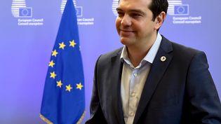 Le Premier ministre grec, Alexis Tsipras, à Bruxelles (Belgique), le 13 juillet 2015. (ERIC VIDAL / REUTERS)