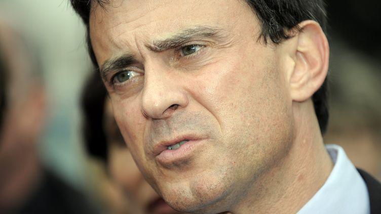Le ministre de l'Intérieur, Manuel Valls, le 22 mai 2012 à Saint-Max (Meurthe-et-Moselle). (A MARCHI / MAXPPP)