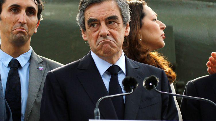 Le candidat de la droite et du centre,François Fillon, le 31 mars 2017 à Toulon (Var). (PHILIPPE LAURENSON / REUTERS)