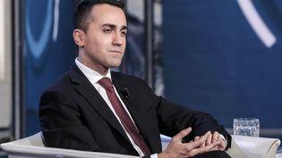 Luigi Di Maio, chef de file du Mouvement 5 étoiles, lors d'une émission télévisée italienne, le 28 mai 2018. (CRISTIANO MINICHIELLO / AGF / SIPA)