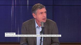 Éric Caumes, chef du service des maladies infectieuses et tropicales à l'hôpital Pitié Salpêtrière, sur franceinfo le 26 octobre 2020. (FRANCEINFO / RADIOFRANCE)