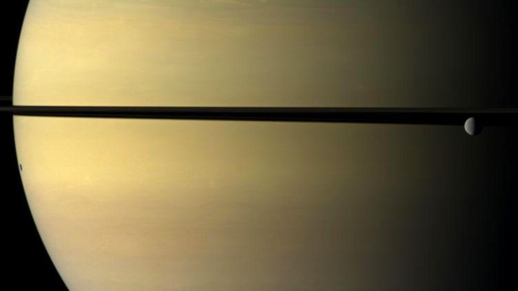 Une vue de Saturne capturée par la sonde Cassini. (NASA / SIPA)