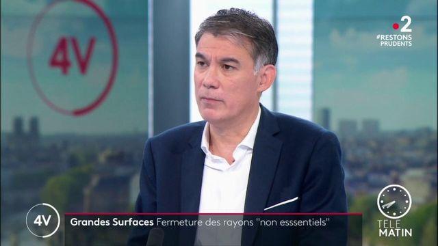 Confinement: «On fait le beurre d'Amazon qui va pouvoir être la seule enseigne à continuer à vendre», juge Olivier Faure (PS)