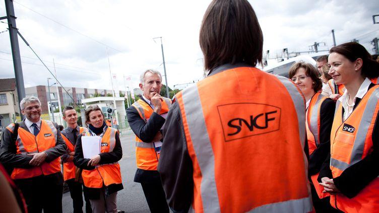 APantin, le 20 juillet 2012, dans un technicentrede la SNCF. (MAXPPP)