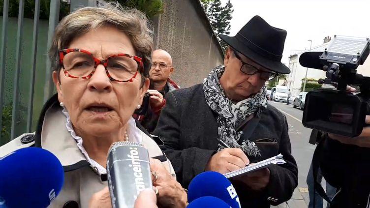 Viviane Lambert, la mère de Vincent Lambert, après avoir rendu visite à son fils au CHU de Reims, le 20 mai 2019. (FRANCEINFO)