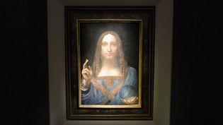 """Le Salvator Mundi"" de Léonard de Vinci  (Drew Angerer / GETTY IMAGES NORTH AMERICA / AFP)"
