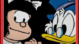 Le grand duel de la première Présidentielle BD d'Angoulême oppose le 7 mai prochain deux candidats radicalement opposés : Mafalda contre Picsou  (France 3 / Culturebox / capture d'écran)