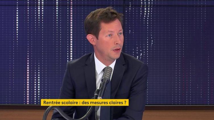 François-Xavier Bellamy était l'invité de franceinfo jeudi 27 août 2020. (FRANCEINFO / RADIOFRANCE)