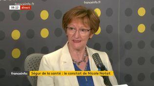 Nicole Notat, ancienne responsable de la CFDT, invitée de franceinfo le 22 juillet 2020. (FRANCEINFO / RADIO FRANCE)