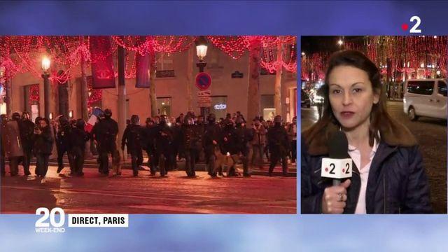"""""""Gilets jaunes"""" : retour au calme sur les Champs-Elysées"""