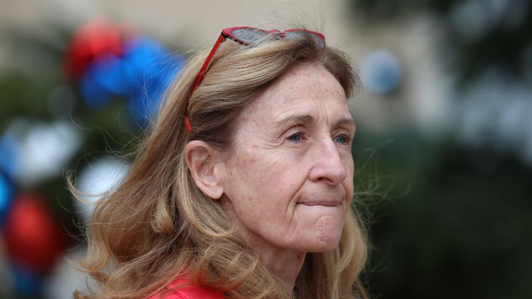 La ministre de la Justice Nicole Belloubet, quitte l'Elysée, le 9 janvier 2019. (MUSTAFA YALCIN / ANADOLU AGENCY)