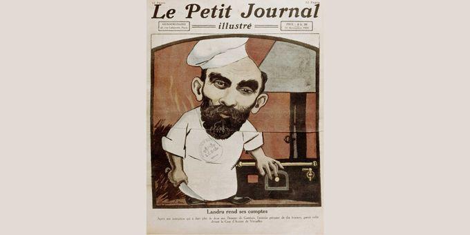 """Henri Desire Landru (1869-1922- en couverture du """"Petit Journal"""" du 13/11/1921  (NAMUR-LALANCE/SIPA)"""