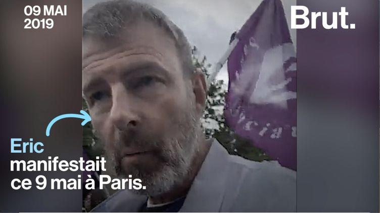 Les organisations syndicales ont appelé à la mobilisation ce 9 mai. Parmi les manifestants, Éric, un infirmier qui s'inquiète de l'avenir du système de santé français. (BRUT)