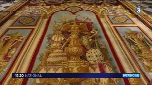 Notre-Dame de Paris expose son tapis du choeur