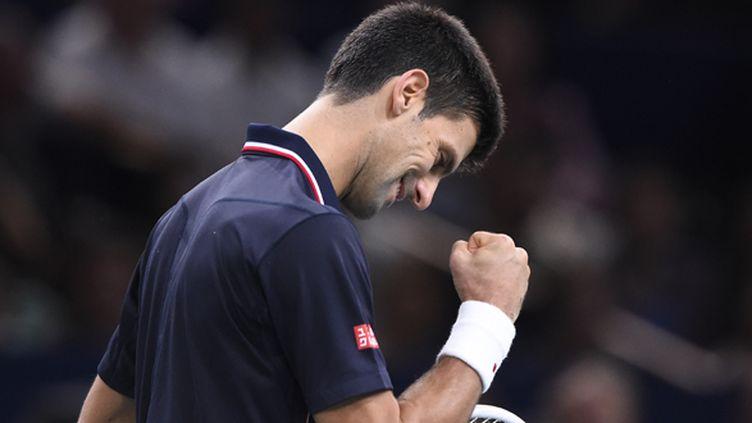 Dominateur à Bercy, Novak Djokovic a ajouté une 47e ligne à son palmarès, déjà bien fourni.  (FRANCK FIFE / AFP)
