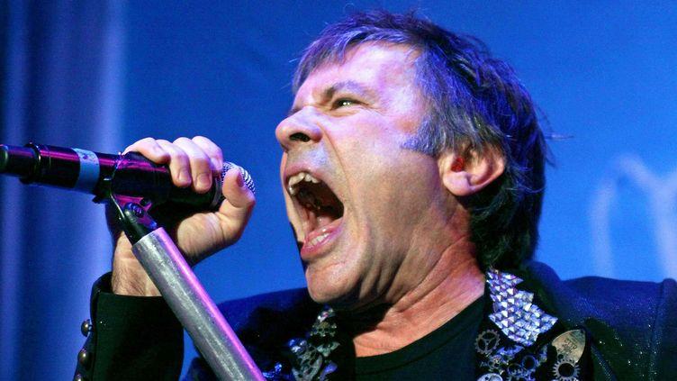 Bruce Dickinson, chanteur du groupe de heavy metal britannique Iron Maiden  (Brandon Marshall/Music /REX/SIPA)