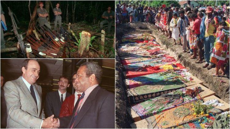 Commémoration ce 22 avril du début des événements sanglants d'Ouvéa il y a trois décennies qui conduiront aux accords de Matignon le 26 juin 1988. (REMY MOYEN / GEORGES BENDRIHEN / AFP)