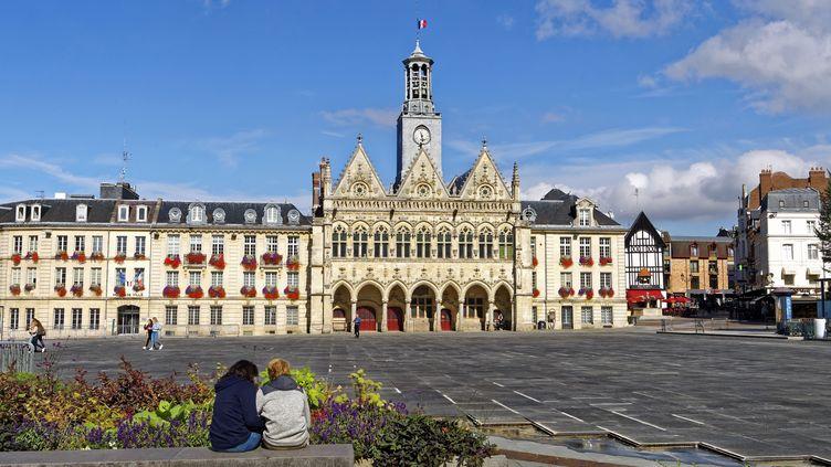 L'hôtel de Ville de Saint-Quentin dans l'Aisne, le 7 septembre 2018. (MATTES REN / HEMIS.FR)