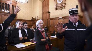 Christine Lagarde devant la Cour de justice de la République, le 12décembre à Paris. (MARTIN BUREAU / AFP)