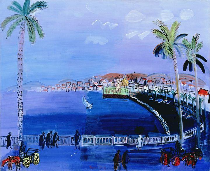"""Tableau """"Baie des anges à Nice"""", de Raoul Dufy (Atelier des Lumières)"""
