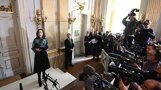 Sara Danuis annonce le lauréat 2016  (Jonathan NACKSTRAND / AFP)