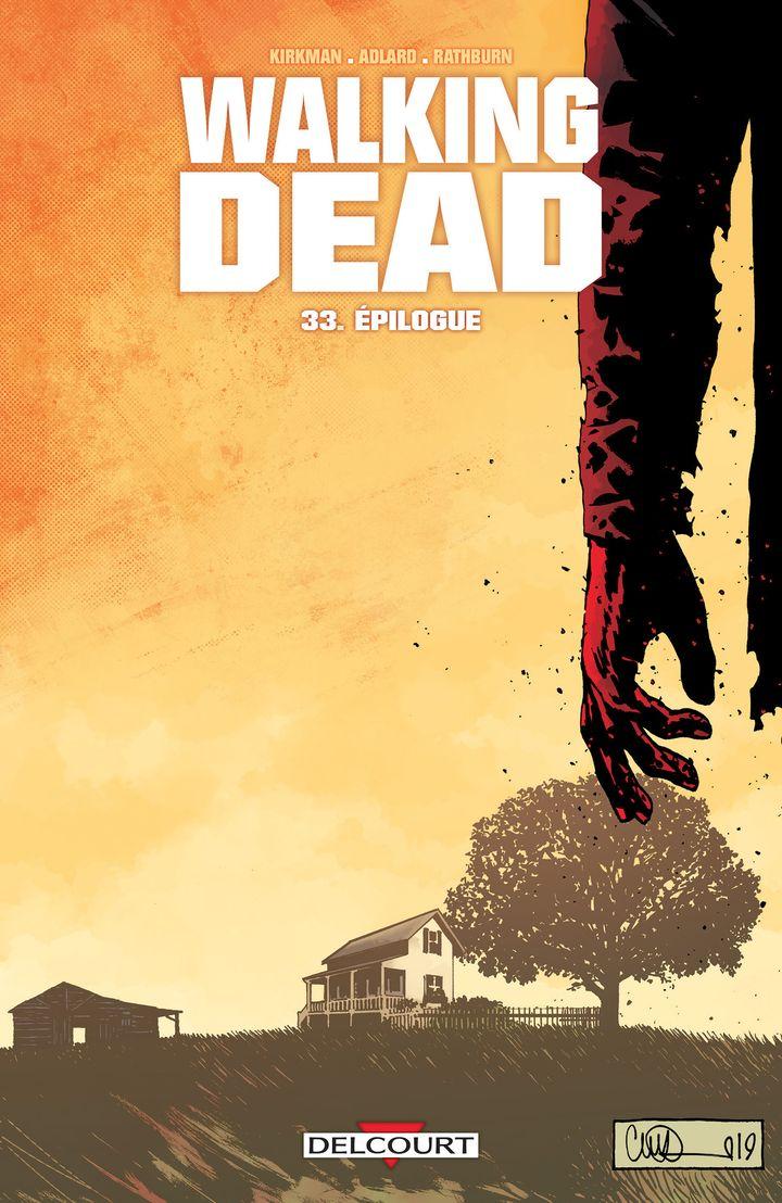 """La couverture du dernier tome de la série """"The Walking Dead"""", publié en France le 15 janvier 2020. (DELCOURT)"""