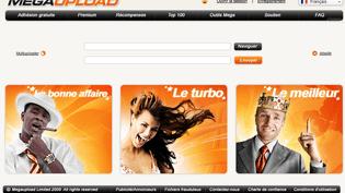 Capture d'écran du site de partage de fichiers Megaupload.com, fermé par les autorités américaines le 19 janvier 2012. (FTVi)
