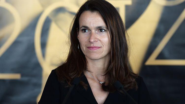 Aurélie Filippetti a reçu les intermittents à Cannes  (BERTRAND LANGLOIS / AFP)