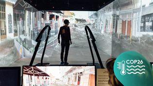 La salle de réalité virtuelle du Cireve de l'université de Caen (Calvados), le 10 mars 2020. (PIERRE MOREL / FRANCEINFO)