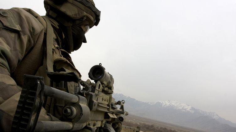 Un soldat français en Kapisa, dans l'est de l'Afghanistan. (AYMERIC VINCENOT / AFP)