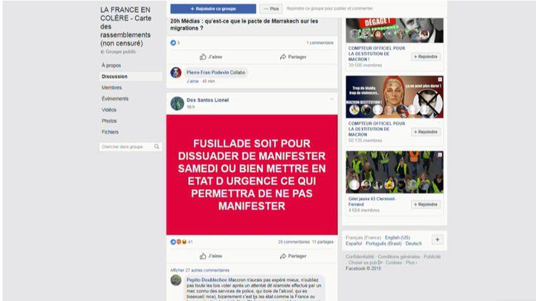 """Perpétré en pleine semaine de mobilisation des """"gilets jaunes"""", l'attentat à Strasbourg (Bas-Rhin) fait l'objet de rumeurs sur les réseaux sociaux qui séduisent des manifestants. (FRANCEINFO)"""