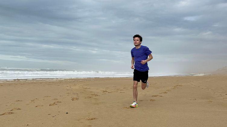 Engagé sur le marathon de Paris 2021, Alexandre Allain à l'entraînement (ALEXANDRE ALLAIN)