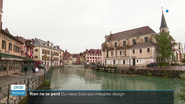 Annecy : du vieux bois recyclé et transformé en meubles design