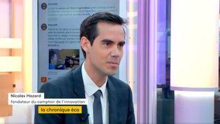 """Invité de Jean-Paul Chapel dans """":L'éco"""" mercredi 29 mars, Nicolas Hazard, fondateur du comptoir de l'innovation, présente la 6e édition d'Impact2, le forum mondial sur l'entreprenariat social: solidarité et rentabilité sont-elles compatibles? (FRANCEINFO)"""