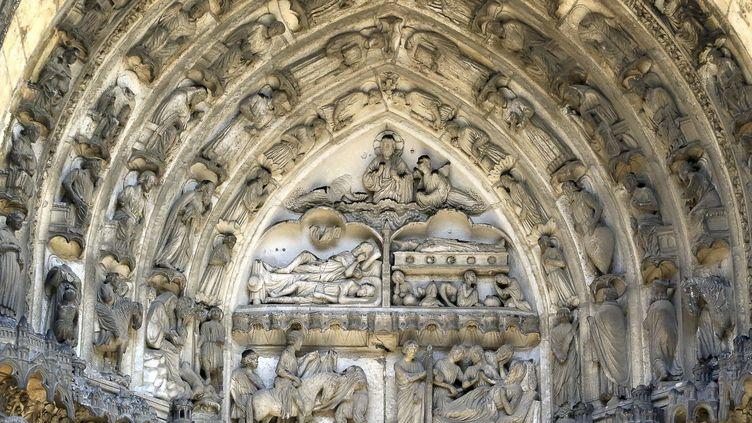 Eléments architecturaux de la cathédrale de Chartres (27 juillet 2018) (NICOLAS GOISQUE / MAXPPP)