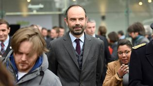 Edouard Philippe à Bobigny, le 20 novembre 2017  (STEPHANE DE SAKUTIN / AFP)